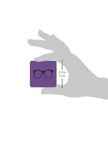 Purple Rikki Knight Hipster Glasses on Design Square Fridge Magnet