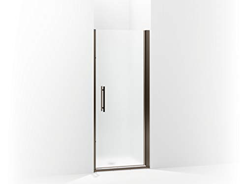 Sterling 5698-31ADR-G03 Finesse Peak Frameless Pivot Shower Door with Frosted Glass, 31.5-in W x 67-in H, Deep Bronze