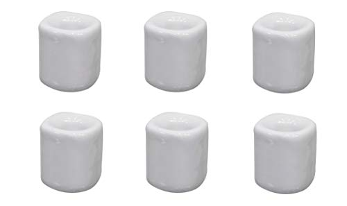 Kheops 6 pcs Ceramic Chime Ritual Spell Candle Holders - White