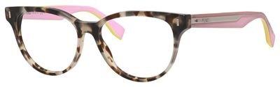 Fendi - COLOR BLOCK FF 0164, Geometric, acetate, women, BROWN HAVANA PINK(UEY), - Fendi Color