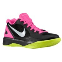 Nike Womens Volley Zoom Hyperspike Anthracite/Pink Flash/Volt/Metallic Platinum 10.5 B - Medium
