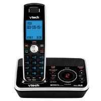 Vtech DECT 6.0 Black/White Expandable Cordless Phone with Digital Answering System and Caller ID (DS6221)