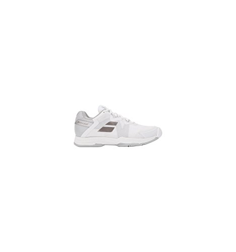 Babolat SFX3 Women's All Court Tennis Shoes- White/Silver Shoe Size: 8.5