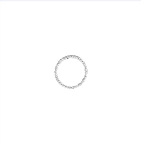 (925 Sterling Silver 4mm Closed Twisted Jump Rings 25 pcs)