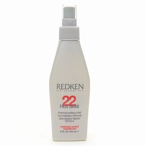 Redken Hot Sets 22 Thermal Setting Mist, Maximum Control 5 fl oz (150 (Thermal Setting Mist)