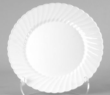 DELUXE Elegant White Disposable Plates 18 Plastic Looks like real China re-useable & DELUXE Elegant White Disposable Plates 18 Plastic Looks like real ...