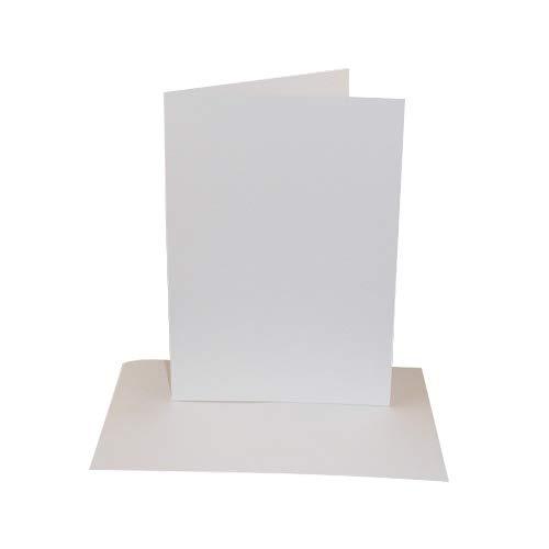 50 Pack - 5x7 White Card Blanks & Envelopes - UK Card Crafts