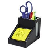 Victor - Midnight Black Collection Pencil Cup with Note Holder, 4 x 6 3/10 x 4 1/2, Wood 9505-5 (DMi EA by Victor