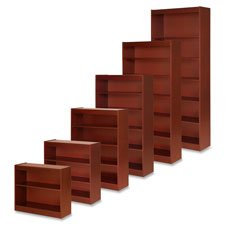Lorell 2-Shelf Panel Bookcase, 36 by 12 by 30-Inch, Cherry