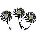 75mm 4Pin VGA Fan For Gigabyte GV-N98TG1 GAMING-6GD gtx980ti Graphics Card Cooling Fan (0.35A) by Sungee