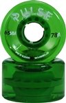 Atom Skates 43225-3392 Pulse 78A,65mm x 37mm (Green, Set of 4)
