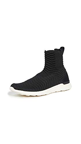 APL: Athletic Propulsion Labs Women's Techloom Chelsea Sneaker Boots, Black/Pristine, 9 Medium US