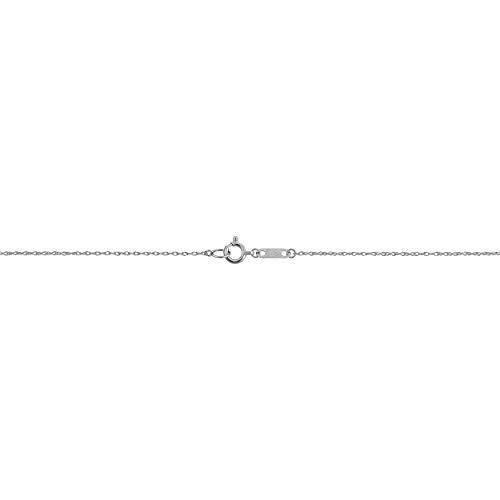 Kooljewelry Platinum 950 Light Rope Chain Necklace (0.9 mm, 18 inch)