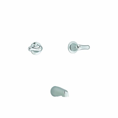 American Standard 3275.505.002 Colony Soft Double-Handle Bath/Tub Fitting with Metal Handles, Chrome American Standard Colony Soft Tub