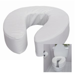 Alimed DMI Vinyl Cushion Toilet Seat Riser, 4""