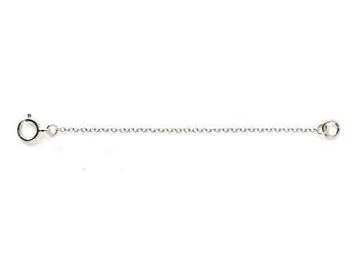 1pc Sterling Silver Chain Extender Strong and Long Lasting - 6 inch Chain Extension for Necklace Anklet Bracelet SS287-6 ()