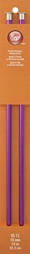 Boye Knitting Needles,14-Inches, size 15 ()