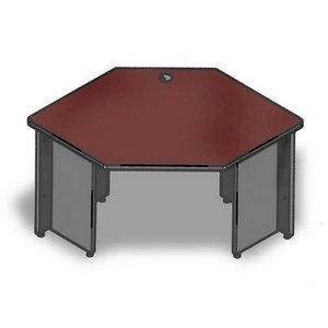Corner Lorell - Lorell Corner Desk, 42 by 24 by 29-Inch, Mahogany/Charcoal
