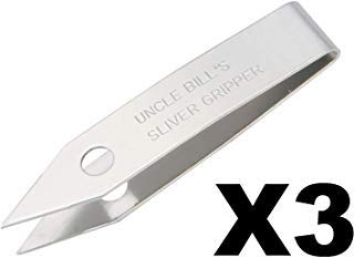3 Pack Uncle Bill's Sliver Gripper Precision Key Chain Tweezers