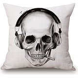 Alphadecor Skull Pillow Covers 18 X 18 Inches / 45 By 45 Cm Gift Or Decor For Drawing Room,sofa,dinning Room,couch,gf,bench - 2 Sides