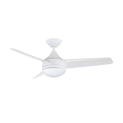 White Opal Finish (Kendal Lighting AC19242-WH   Moderno 42-Inch 3-Blade 1 Light Ceiling Fan, White Finish with Opal White Glass and White ABS Blades)