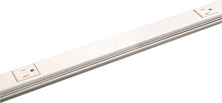 Wiremold V20GB512 Plugmold Multi Outlet Strip 5 Single 15 Amp Outlets Steel Ivory, 3