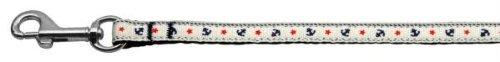 Ribbon Nylon Leash Anchors (Mirage Pet Products Anchors Nylon Ribbon Leash for Pets, 3/8-Inch by 4-Feet, White)