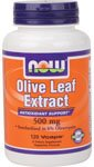 Olive Leaf Extract 120 Caps (NOW Foods Olive Leaf Extract 500 mg-120 Vegi Caps)