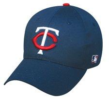 MLB ADULT Minnesota TWINS Home Navy Blue Hat Cap Adjustable Velcro TWILL