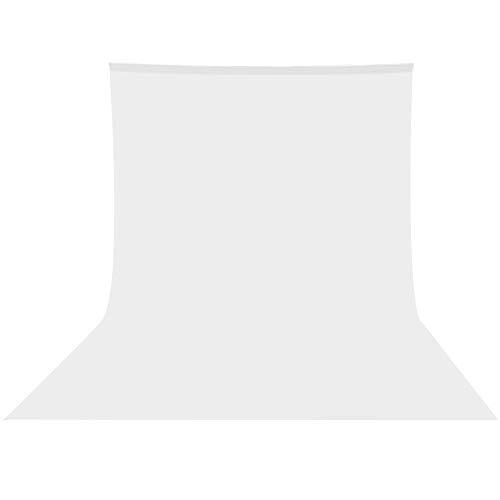 UTEBIT 사진 촬영용 배경포백 3 x 3.6 m 백 그라운드 무지 옷감 면직물 인물 상품 촬영 대응 배경 씨트 고품질 불투명 백 페이퍼 천 스튜디오/비디오/TV 촬영 등 전용 300 * 360 cm 단색 화이트