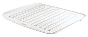 Rubbermaid Antimicrobial Small Dish - Rubbermaid Antimicrobial Drain Board Large, White (2-Pack)