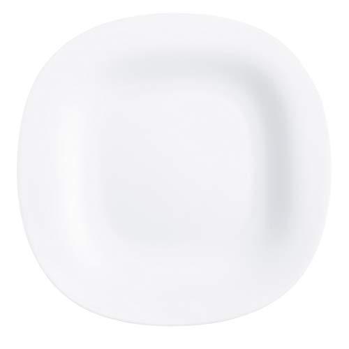 Luminarc P1857 Carine White Dinner Plate, Set of 6, 1,