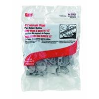 Half Clamp (Oatey 33911 Half Clamps with Barbed Nail (12 in Polybag), Gray, 3/4-Inch)