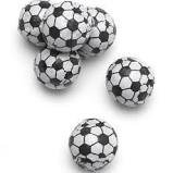 Chocolate Covered Football Soccer Baseball and Basketball Candy - 5 Pounds Bulk Wholesale - Individually Foil Wrapped (Soccer Balls) ()