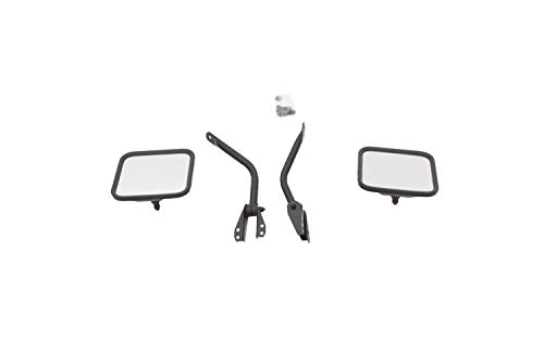 RAMPAGE PRODUCTS 7617 Black Factory Style Replacement Steel Mirror Kit for 1955-1986 Jeep CJ - Pair