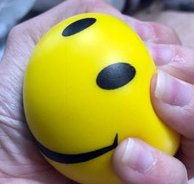 Adorox (24pcs) Face Stress Squeeze Balls Assorted Colors 2.5 inch Happy Smiley Mini by ADOROX