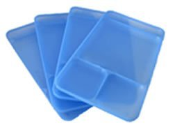 Tupperware Impressions Delta Blue Dining Trays, Set Of 4