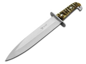 Hen and Rooster Large Full-Tang Ram Horn Hunting Bowie Knife Knives