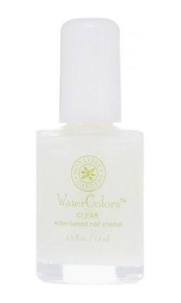 Honeybee Gardens Watercolors Nail Enamel Clear Top/Base Coat | Non Toxic | Water-Based | Earth Friendly