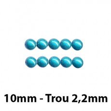 10 Perles magiques 10 mm Turquoise Grade A