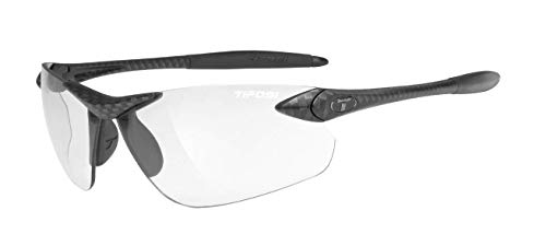 Tifosi Seek Fc, Carbon Fototec Sunglasses Rectangular, Black, 74 mm