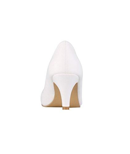 5791 Blanco Elegantes Krisp Zapatos Tacón Salón xOqfUH