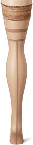 Fiore Alegra / Golden Line Classic, Medias para Mujer, 20 DEN Braun (Natural 015)