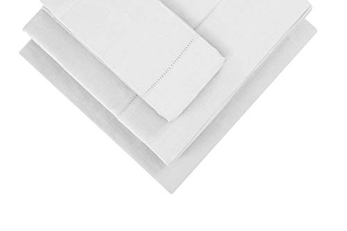 "100% Cotton Sheet Set, White Bedding Sets Twin Size 3 Piece Set 300 Thread Count Long-staple Combed Pure Natural Cotton Bedsheets, Soft & Silky Sateen Weave Fit Mattress Upto 17"" Extra Deep Pocket"