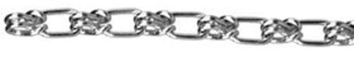 ASC MC12740403 Low Carbon Steel Lock Link Single Loop Chain, Galvanized, 4/0 Trade, 5/32'' Diameter x 30' Length, 485 lbs Working Load Limit