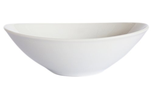 Show (Set of 4) Amatahouse Elegant Oval Soy Sauce Dish Sushi Wasabi Plates Soy Sauce Dipping Bowls Royal Porcelain Classic White 3-3/4 inch Barbecue Bowl #0299 price