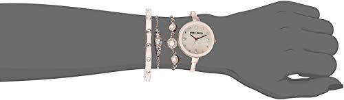 Anne Klein Women's AK/3352 Swarovski Crystal Accented Bangle Watch and Bracelet Set