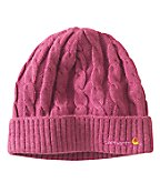 Carhartt WA061 Women's Cable Knit Hat Tulip Pink Heather One Size