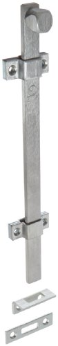 "Rockwood 580-12.26D Surface Bolt, UL Listed, 12"" Length, Brass Satin Chrome Plated Finish"