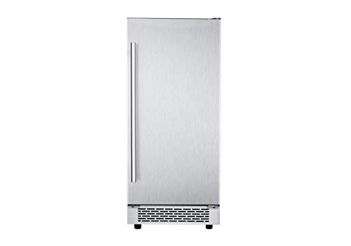 (Hanover HIM60701-5SS The Vault 15 in. Stainless Steel Reversible Door and Touch Controls Undercounter Ice Maker)